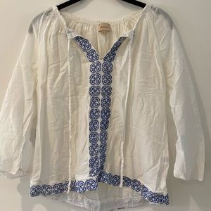 Ella Moss embroidered blouse